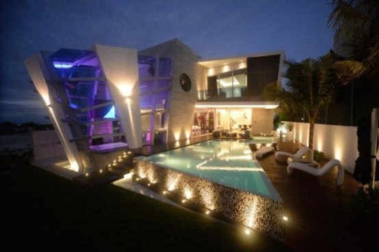 Futuristic House Brilliant Futuristic House With Abstract Shape In Mexico  Digsdigs Decorating Design