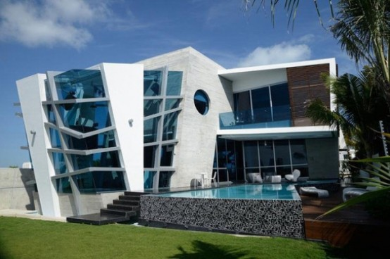 Futuristic House Delectable Futuristic House With Abstract Shape In Mexico  Digsdigs Review