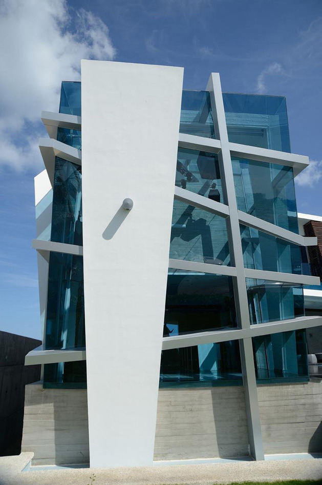 Futuristic House With Abstract Shape In Mexico