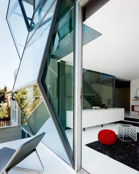 Futuristic House With Prismatic Structure