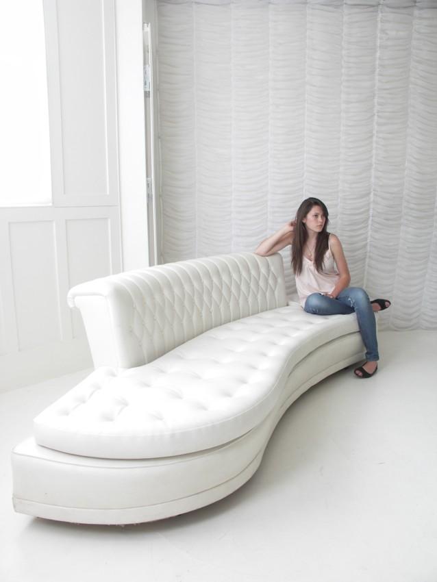 Advertisement for Stylish futuristic sofas