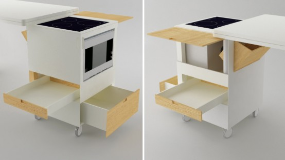 Futuristic Kitchen Concept For Small Room Rubica By Lodovico Bernardi
