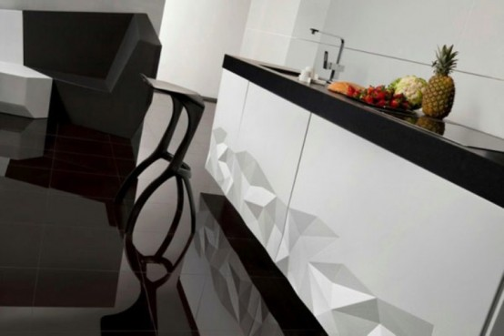 Futuristic Kitchen Design Inspired By Origami