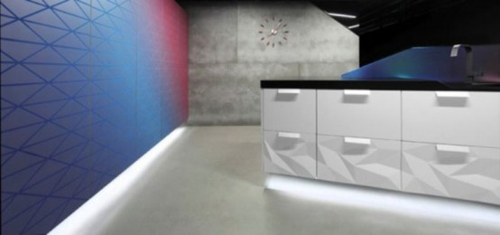 Futuristic Kitchen Design Inspired By Origami