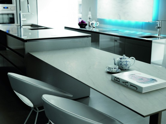 Futuristic kitchen design from italy by toncelli digsdigs for Modern kitchen designs 2009