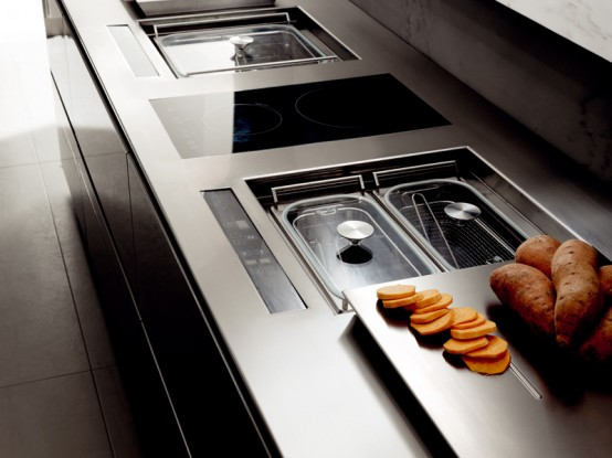 Futuristic Kitchen Design from Italy by Toncelli