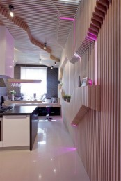 Futuristic Kitchen With Smart Space Saving Solutions
