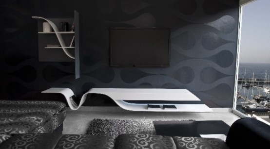 Futuristic Melting Shelves For Your Living Room Digsdigs