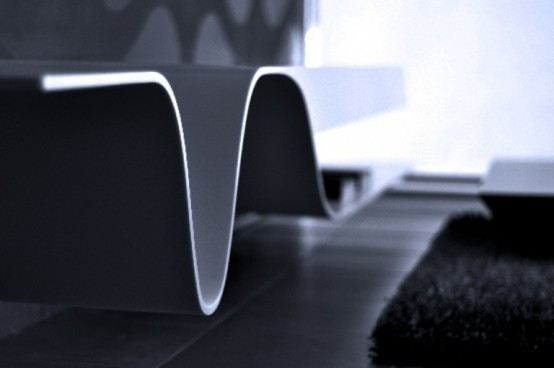 Futuristic Melting Shelves For Your Living Room