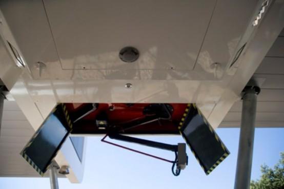 Futuristic Modular Spaceship Home On Metal Legs