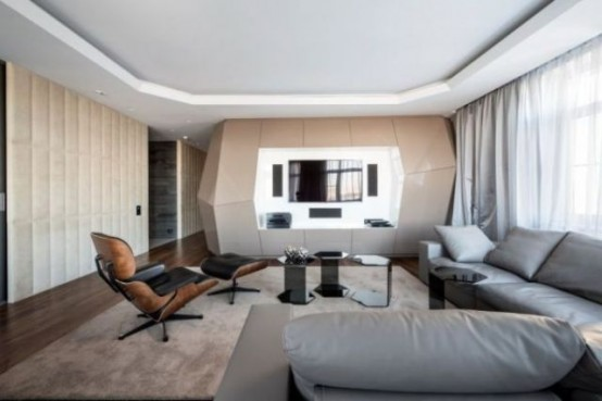Futuristic Moscow Apartment With Eye Catching Details