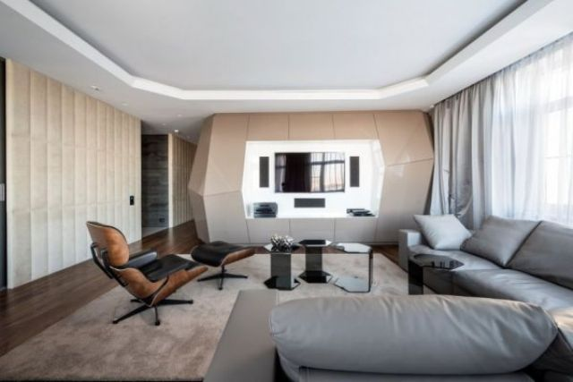 Futuristic Moscow Apartment With Eye-Catching Details