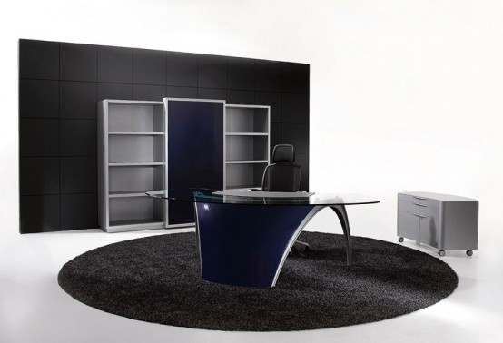 Futuristic Office Table E28093 Luna By Uffix