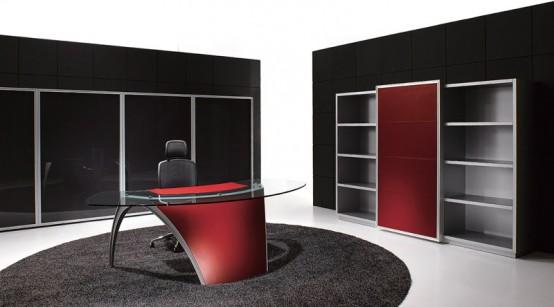 Futuristic Office Table E28093 Luna By Uffix
