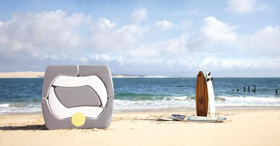 Very Modern Outdoor Furniture That Could Be Stored Compactly – Puzzle by Ego Paris