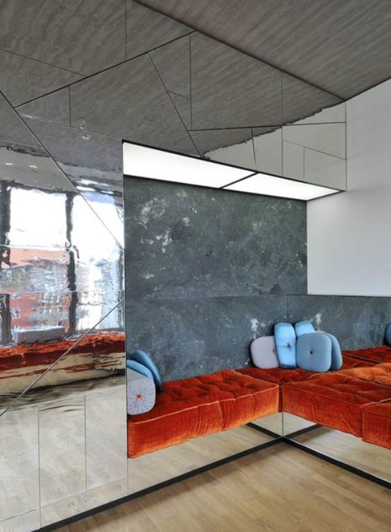 Futuristic Penthouse With Mirror Walls