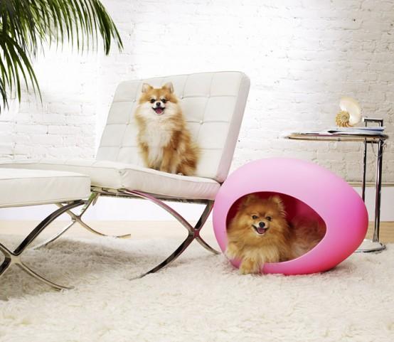 Futuristic Egg Shaped Pet Beds Digsdigs