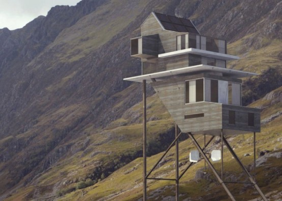 Futuristic Self-Sustaining House On Stilts