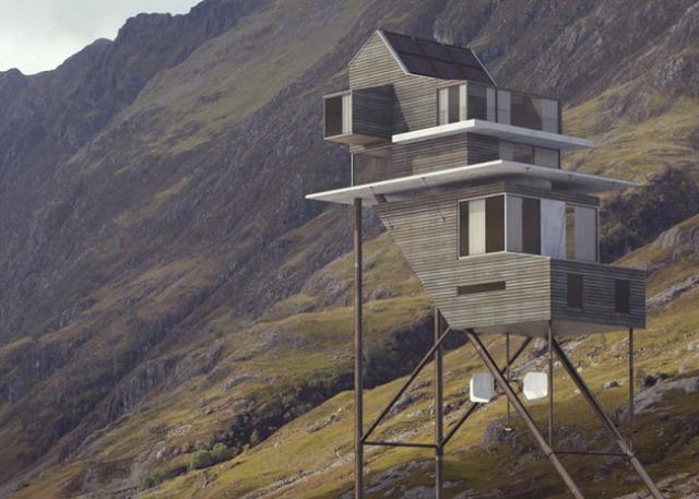 Futuristic Self-Sustaining House On Stilts