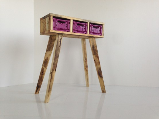 Futuristic Stiltboxes Furniture Of Recycled Materials
