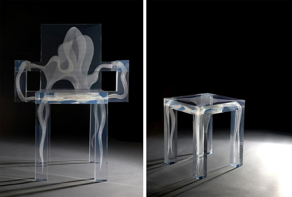 Futuristic Supernatural Chair With A Ghost