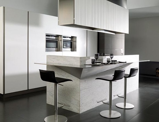 Kitchen with Fronts Made of Corian – G975 from Gamadecor