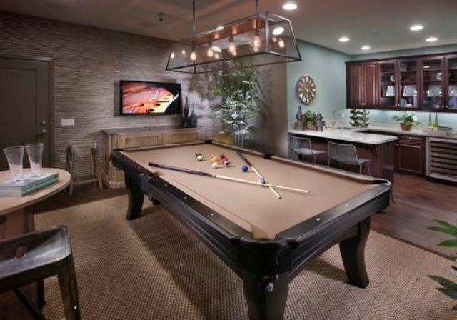 game room for entertaining