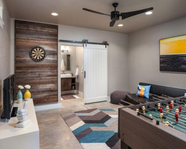 Creating a basement game room 4 tips and 41 examples - Family game room ideas ...