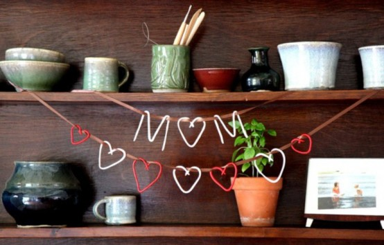 Garlands And Paper Decorations For Mother's Day