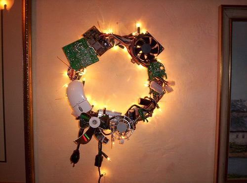 geek christmas wreath