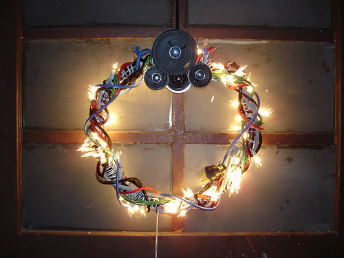 geek xmas wreath