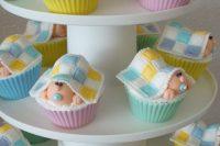 gender neutral baby shower cupcakes