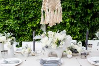 gender neutral baby shower table setting