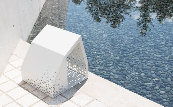 Geometric Oshu Dog House For Indoors And Outdoors