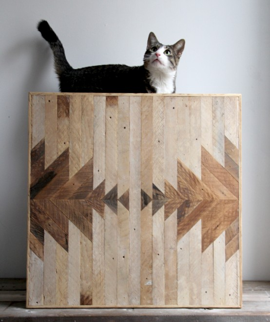 Geometric Wood Wall Panels By Ariele