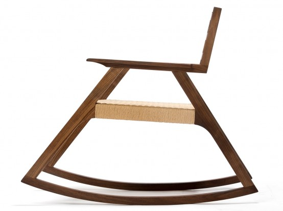 Giacomo Rocker Chair With Minimalist Design In White Oak