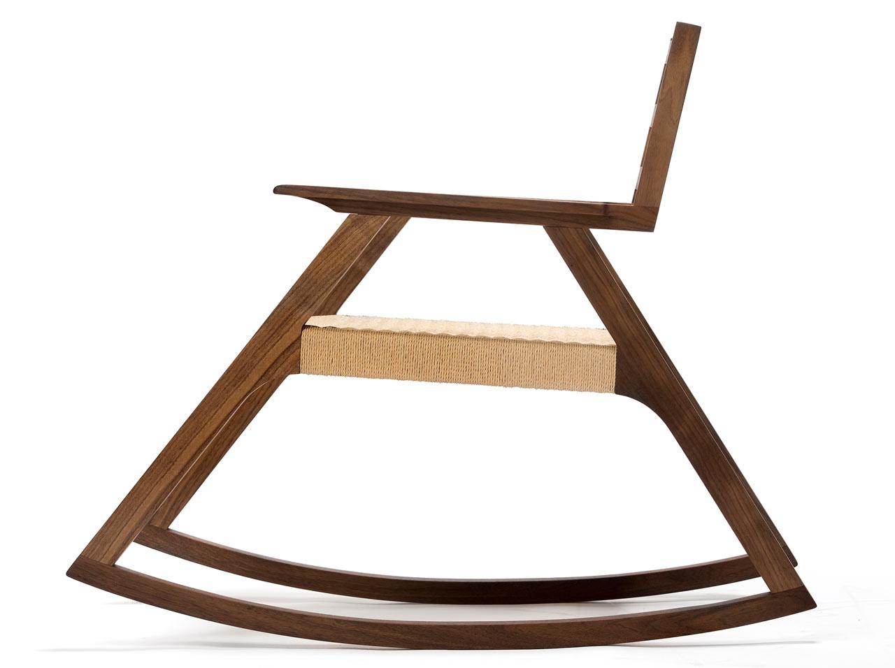 Giacomo Rocker Chair With Minimalist Design In White Oak