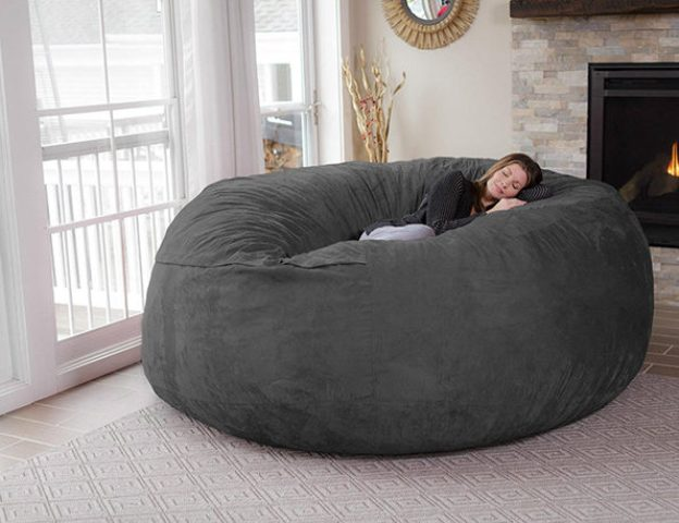 Giant Cozy Chill Bean Bag To Curl Up Inside
