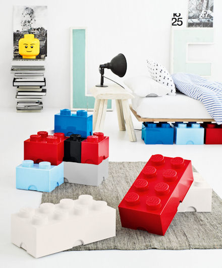 Giant LEGO Bricks As Modular Storage Box System