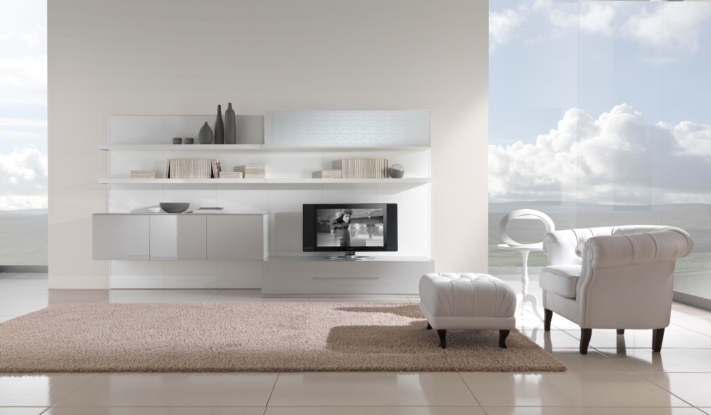 Modern Black And White Furniture For Living Room From Giessegi