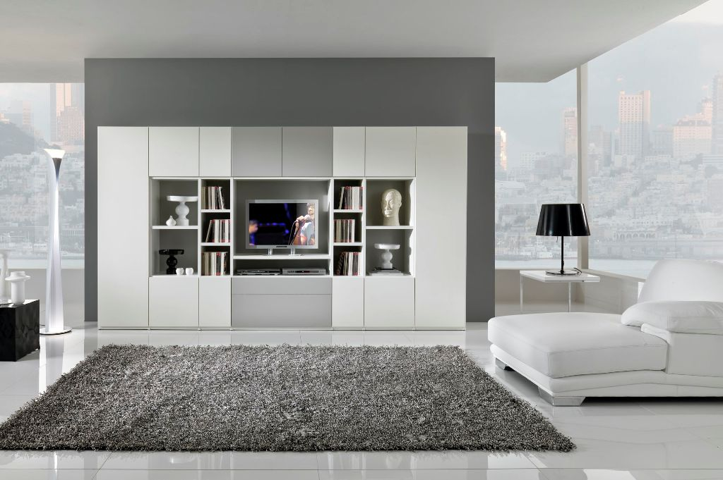 modern living room furniture giessegi modular | Modern Black and White Furniture for Living Room from ...