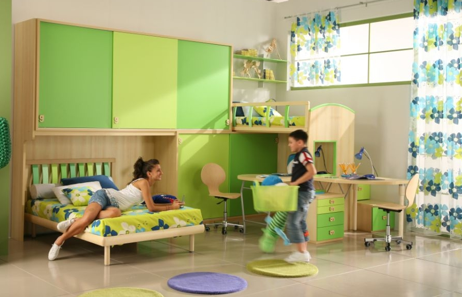 50 Brilliant Boys and Girls Room Designs - Unoxtutti from Giessegi - DigsDigs