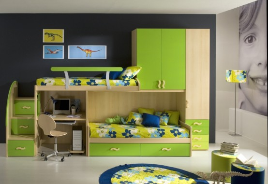 50 Brilliant Boys and Girls Room Designs – Unoxtutti from Giessegi