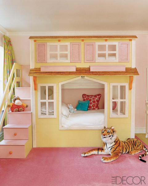 33 wonderful girls room design ideas digsdigs Bunk beds for girls