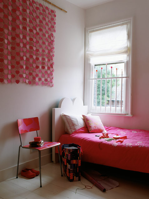Girl Room Decorated With Hearts