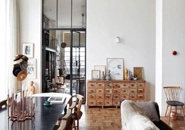 glam art deco apartment in muted colors digsdigs. Black Bedroom Furniture Sets. Home Design Ideas