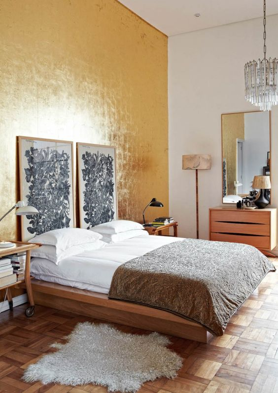 The main bedroom was designed around Laureen's passion for the Bauhaus period