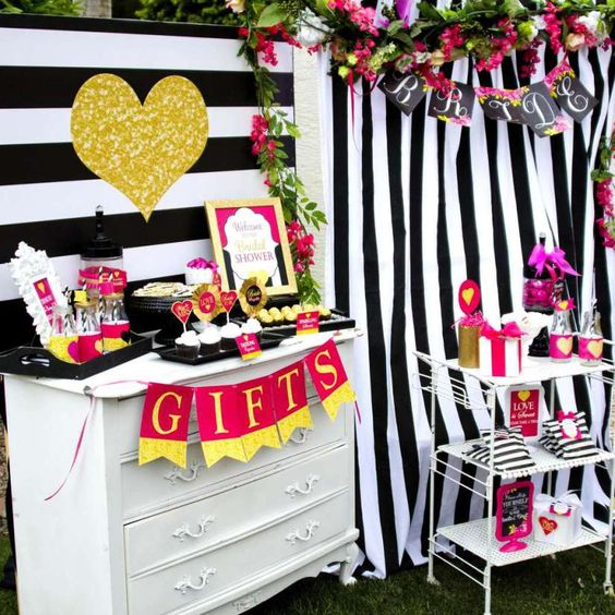 glam modern baby shower