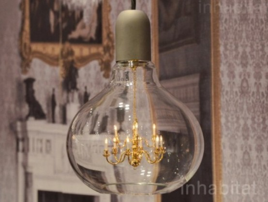 Glamorous Baroque Chandelier In A Bulb - DigsDigs