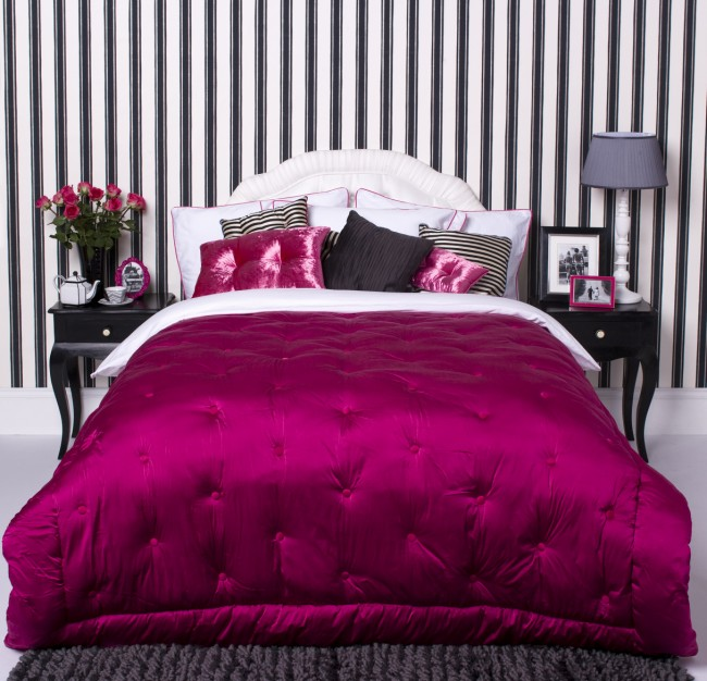 Black white pink bedroom modern home exteriors for Red and black bedroom designs